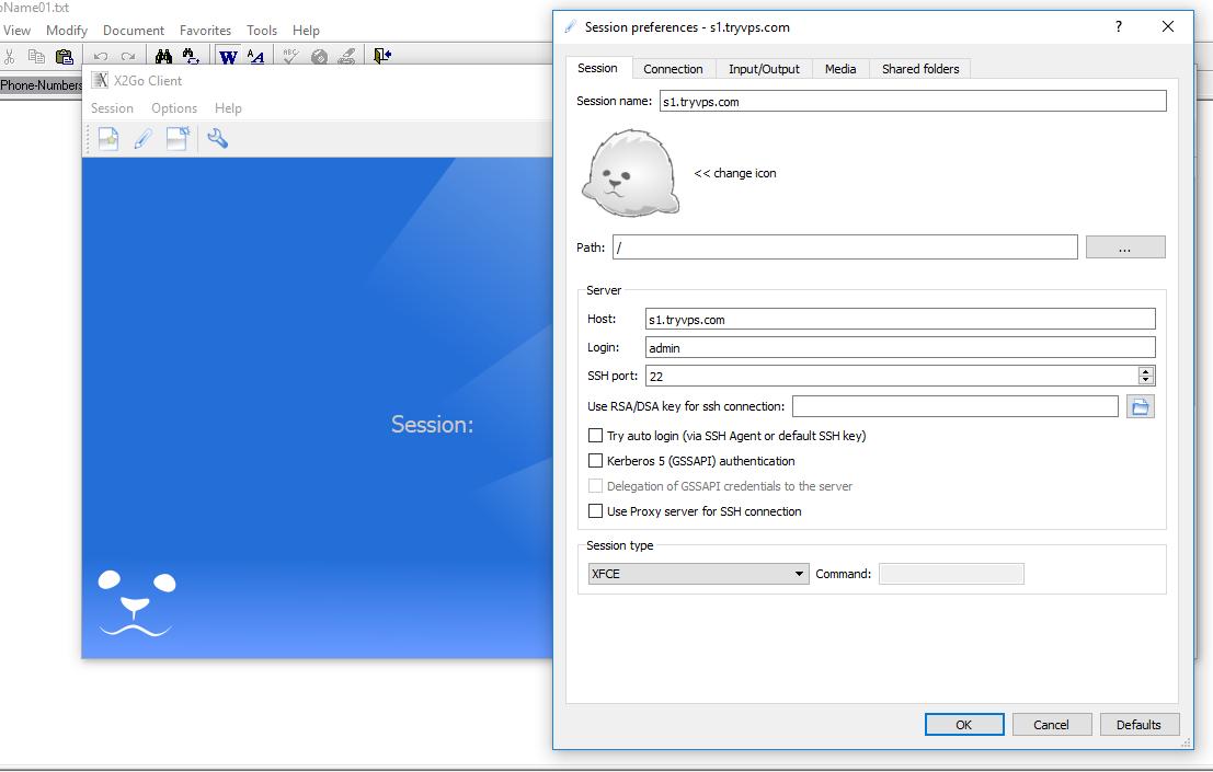 XFCE Remote Desktop Installation Debian 9 Stretch - VPS Projects
